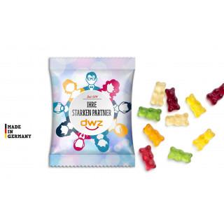 Gummibärchen im Werbetütchen (15 g)   transparente Folie   Gummibärchen, 1-farbig