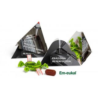 Pyramidenbox | Em-eukal Klassik Bonbons | 4c Euroskala