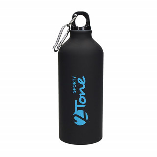 """Aluminiumflasche """"Sporty-2Tone"""" schwarz 0,6 l, blau, schwarz"""