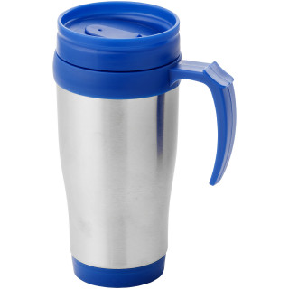 Sanibel 400 ml Isolierbecher, EXPRESS, silber, blau