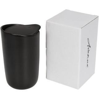 Mysa 400 ml doppelwandiger Keramikbecher, schwarz