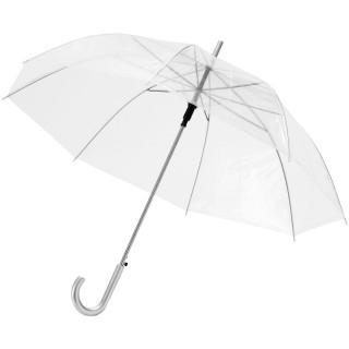 """Kate durchsichtiger 23"""" Automatikregenschirm, transparent weiss"""