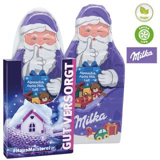 Milka Weihnachtsmanntafel im Schuber