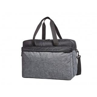 Sport-/Reisetasche ELEGANCE, schwarz-grau meliert