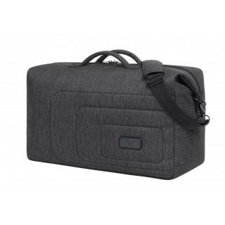 Sport-/Reisetasche FRAME, schwarz-grau-meliert
