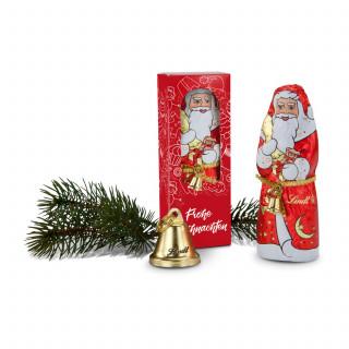 Geschenkset / Präsenteset: Lindt-Santa Frohe Weihnachten