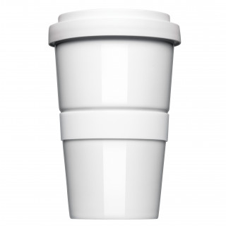 Mahlwerck Coffee2Go, original Coffee to Go Becher, Form 345 mit glatter oder geriffelter Siliconbanderole
