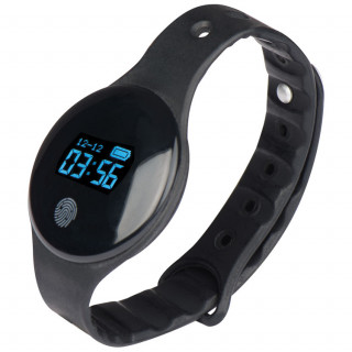 Smartes Fitness Armband aus Silikon, schwarz