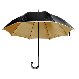 Luxuriöser Regenschirm mit doppelter Bespannung aus Polyester, braun