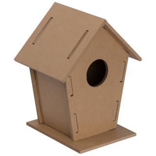 Vogelhäuschen aus MDF zum Zusammenbauen, beige