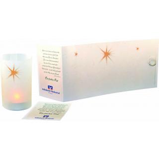 Lichtrolle Stern (ohne Teelicht) , 1-4 c Digitaldruck inklusive, ohne Kuvert
