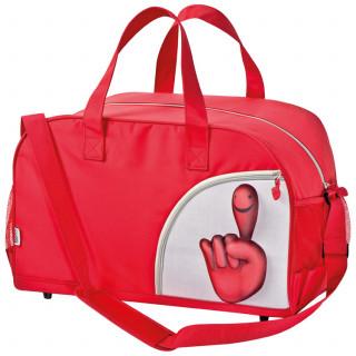 Sporttasche aus Mikrofaser im Smilehands-Design, rot