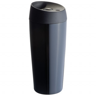 Vakuum-Trinkbecher aus Edelstahl, 400 ml, schwarz