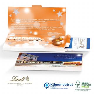 Grußkarte mit Schokoladentafel von Lindt Excellence, Klimaneutral, FSC®