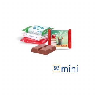 Ritter SPORT Mini mit Werbebanderole, Klimaneutral, FSC®