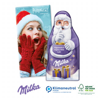 Milka Weihnachtsmann-Tafel, Klimaneutral, FSC®-zertifiziert