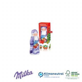 Milka Weihnachtsmann, 15 g, Klimaneutral, FSC®-zertifiziert