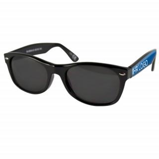 Sonnenbrille mit 3D Logoeffekt (Doming), schwarz