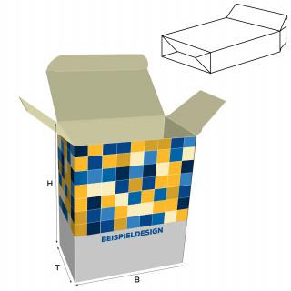 Faltschachteln mit Steckboden, H: 100 x B: 70 x T: 70 mm, unbedruckt, Standard-Karton