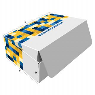 Klappschachteln, H: 40 x B: 150 x T: 110 mm, unbedruckt, Hochweiß-Karton