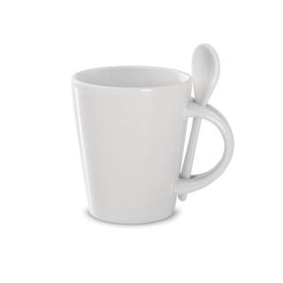 SUBLIMKONIK Tasse mit Löffel Sublimation, weiß