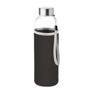UTAH GLASS Trinkflasche Glas 500 ml, schwarz
