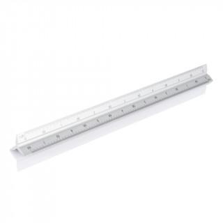 Aluminiumlineal 30 cm, silber