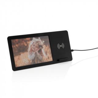 5W Wireless Charger mit Fotorahmen, schwarz