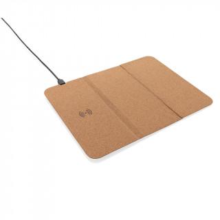 5W Wireless Charger Mauspad aus Kork, braun
