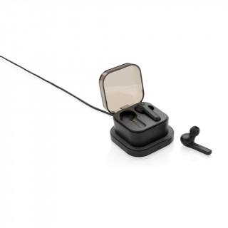 TrueWireless Ohrhörer in kabelloser Ladebox, schwarz