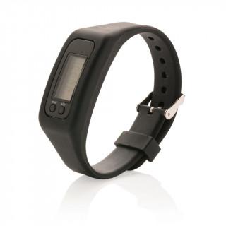 Schrittzähler Armband, schwarz