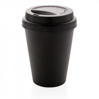 Wiederverwendbarer doppelwandiger Kaffeebecher 300ml, schwarz