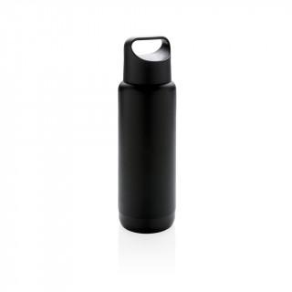 Flasche mit leuchtendem Logo, schwarz