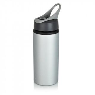 Aluminium Sportflasche, grau, grau