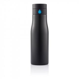 Aqua Auslaufsichere Hydration Flasche, schwarz, blau