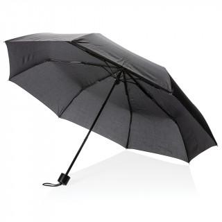 """21"""" Schirm mit manueller Öffnung und Einkaufstasche, schwarz"""