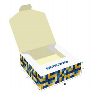 Pop-Up-Schachteln, H: 60 x B: 100 x T: 100 mm, unbedruckt, Standard-Karton