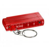 Mini-Kunststoff-Glieder-Zollstock, rot-transparent