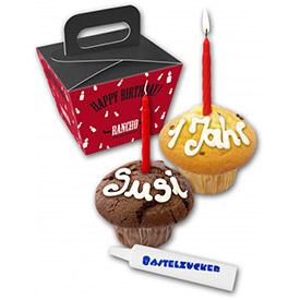 MUFFINS & Minikuchen bedrucken mit Logo als Werbeartikel